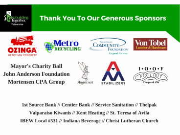 Thank You To Our Generous Sponsors (6)